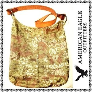 {American Eagle Outfitters} olive print hobo bag
